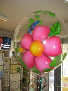 Heliumballons Ballon im Ballon Bubbles Qualatex Fantasie