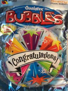 Heliumballons Abitur bestanden Congratulation