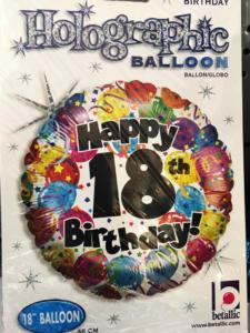 Ballon Heliumballons 18. Geburtstag 18th Birthday