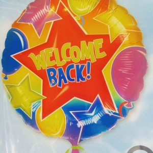 helium balloon welcome back stationery Schreibwaren Fuhlsbuettel Hamburg Airport
